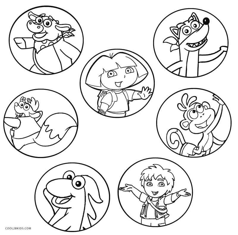 Ausmalbilder Dora - Malvorlagen kostenlos zum ausdrucken