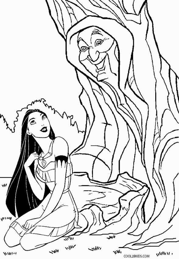 Ausmalbilder Pocahontas - Malvorlagen kostenlos zum ausdrucken