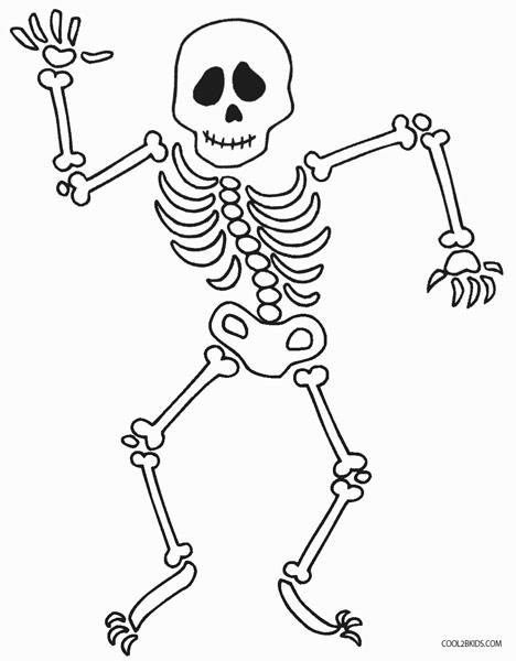 Ausmalbilder Skelett - Malvorlagen kostenlos zum ausdrucken