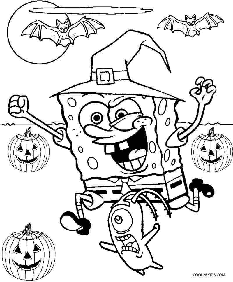 Ausmalbilder SpongeBob - Malvorlagen kostenlos zum ausdrucken