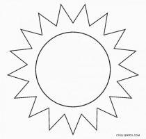 Ausmalbilder Sonne   Malvorlagen kostenlos zum ausdrucken