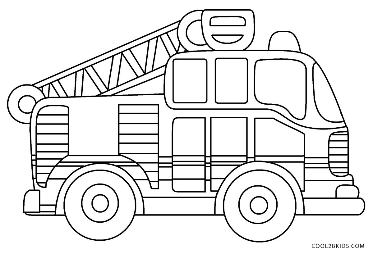 Ausmalbilder Feuerwehrauto  Ausmalbilder Feuerwehr