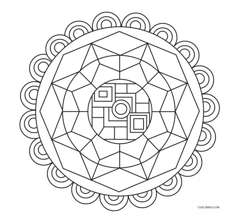 Ausmalbilder Geometrische - Malvorlagen kostenlos zum