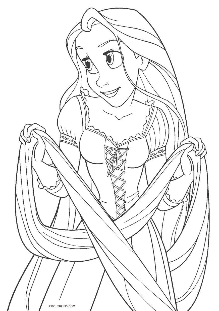 Ausmalbilder Rapunzel - Neu verföhnt - Malvorlagen