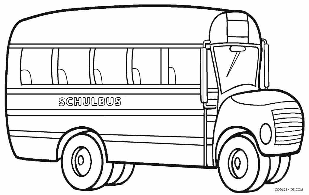 Malvorlage Schulbus