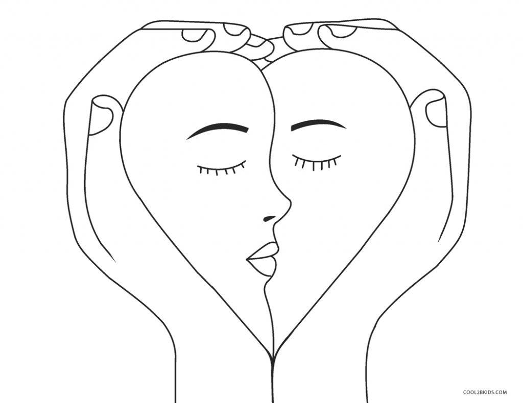 Ausmalbilder Liebe - Malvorlagen kostenlos zum ausdrucken