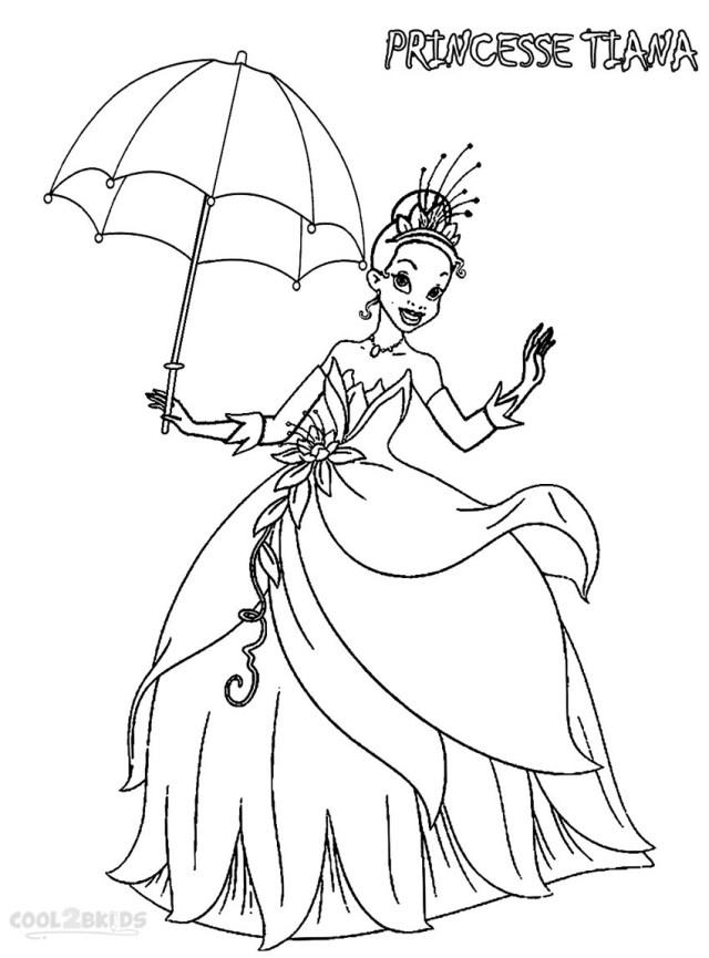 Coloriages - Princesse Tiana - Coloriages Gratuits à Imprimer