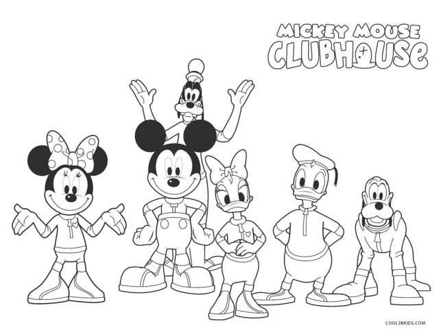 Coloriages - Mickey Mouse Clubhouse - Coloriages Gratuits à Imprimer