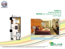 M Place South Triangle Unit Layout Tower C My PAD Unit Type 3