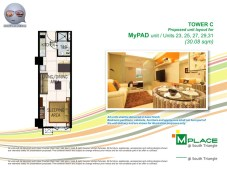 M Place South Triangle Unit Layout Tower C My PAD Unit Type 7