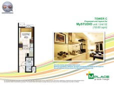 M Place South Triangle Unit Layout Tower C My Studio Unit