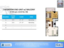 Shell Residences 1 Bedroom End Unit with Balcony Type 3