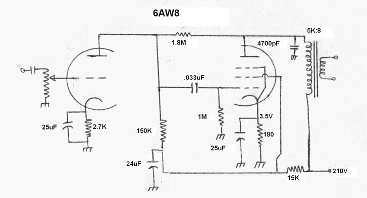 Simple Valve Amplifier Circuits.
