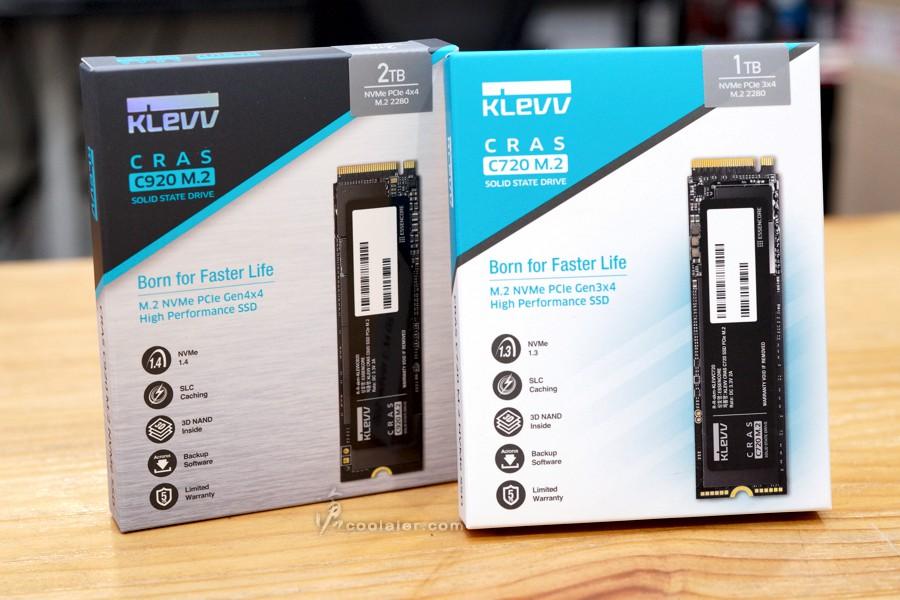 KLEVV CRAS C920 2TB PCIe 4.0 SSD 開箱測試