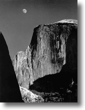 Ansel Adams Moon And Half Dome Yosemite National Park