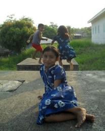 Mopan Maya Children Play by the School