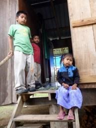 Mopan Maya Children Wait for Wedding Festivities to Begin