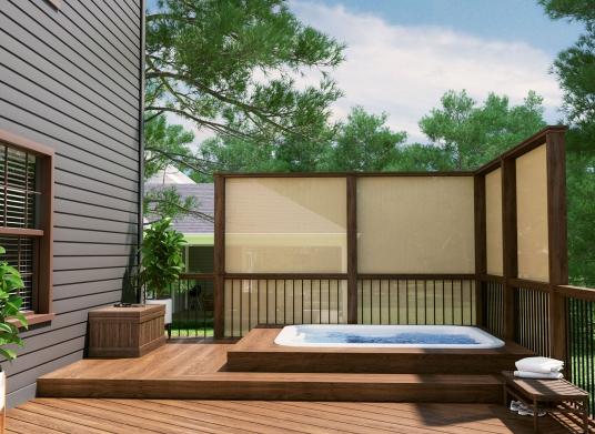 sun shade cloth and garden screen
