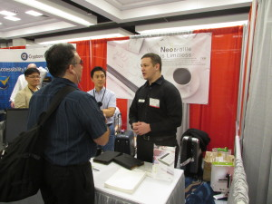 Joel interviewing Thomas Simpson from NeoAccess at CSUN 2016