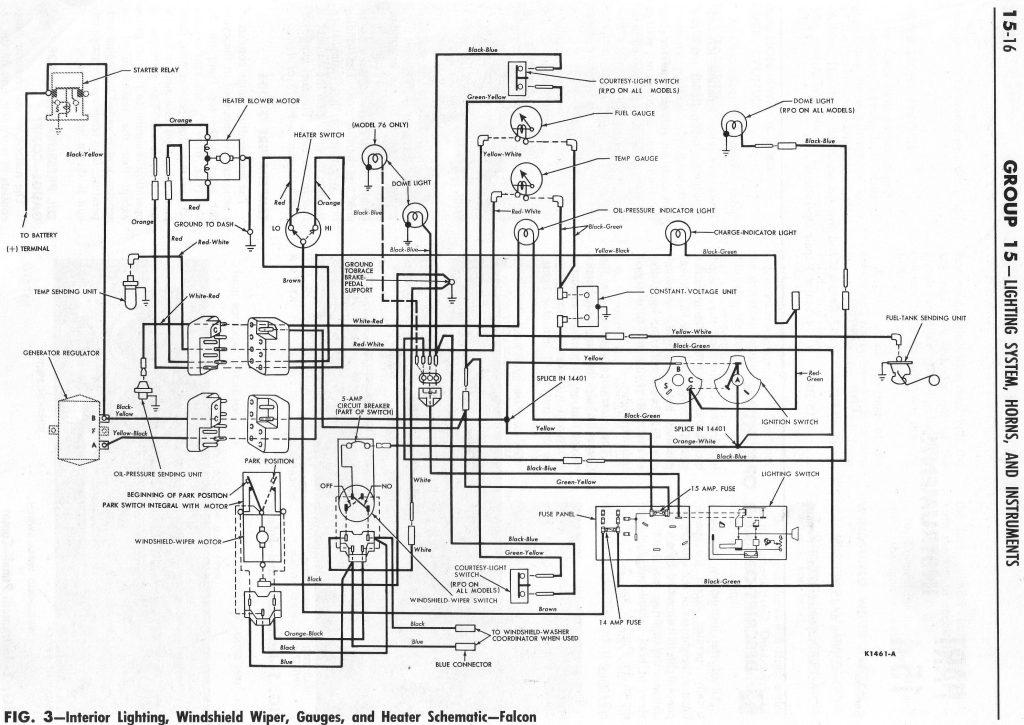 Schéma électrique Ford Ranchero 1964