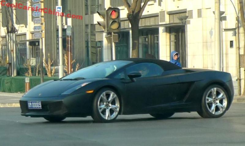 Lamborghini Gallardo Spyder Is Matte Black In China