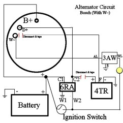 Alternator 3 Wire Diagram Level 1 Example Lucas Bosch Requires Minimal Wiring Changes