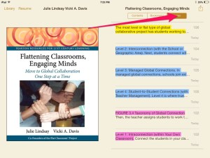 Figure 2: Before you can do anything with the notes, you have to view the notes in iBooks.