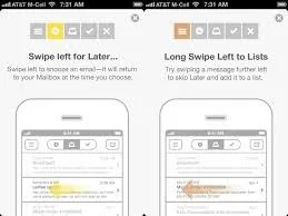 The mailbox app lets you swipe right to clear or swipe left to schedule later or add to a list. Very cool.