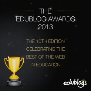 The Edublog Awards are managed by the edublog organization but anyone on any platform can be nominated.