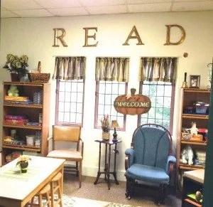 Erin Klein's Reading Nook in her second grade classroom.