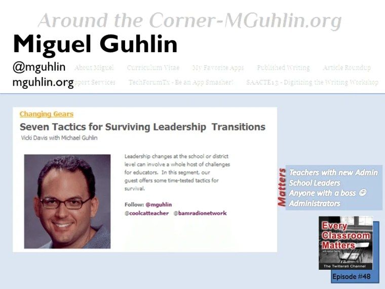 Miguel Guhlin shares leadership advice