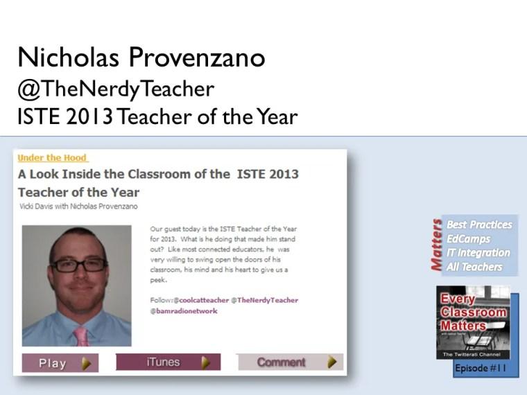 Nicholas Provenzano @theNerdyTeacher