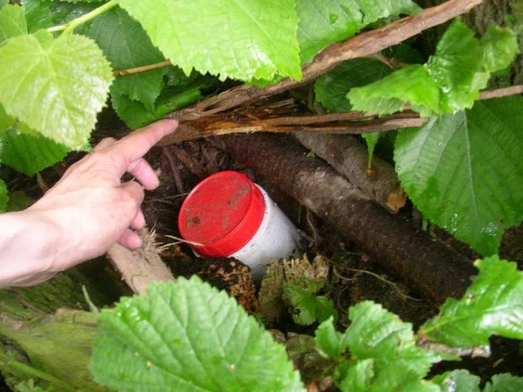 Caches can come in any size container - as long as they are airtight, keep your eyes open, you never know!