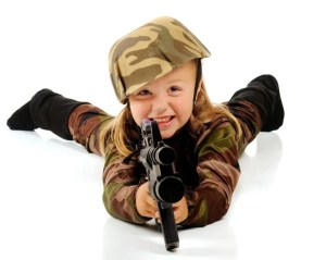 When I was a child, kids played cops and robber with guns made out of sticks. The reality and gruesomeness of some kid games today should wake us up to ask if we like what childhood has become. It isn't their fault. We're the ones who expose them to this.