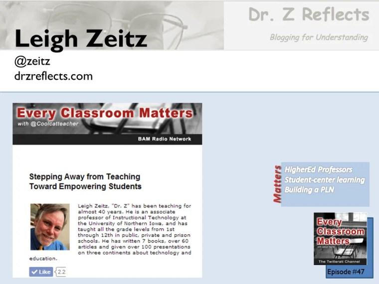 Dr. Leigh Zeitz professor at the University of Northern Iowa