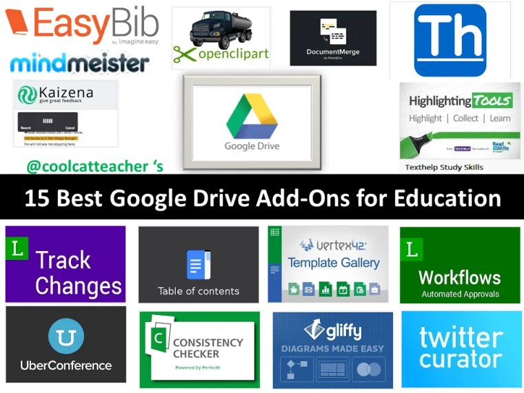 15 Best Google Drive Add Ons for Education with Logos