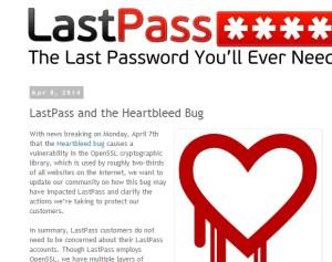 Last Pass Heartbleed