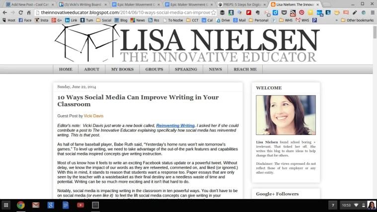 Innovative Educator Lisa Nielson