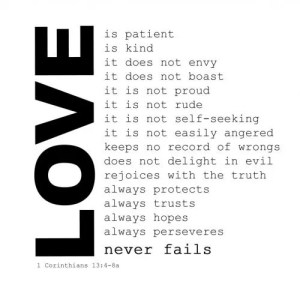 Love is a powerful response to hate.