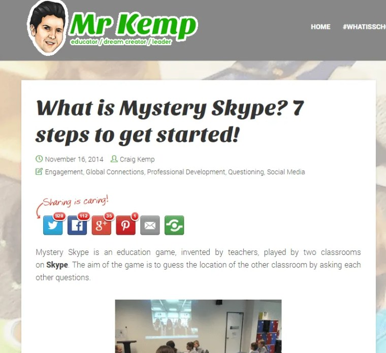 Craig Kemp - what is mystery skype