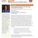 Differentiating Instruction with Technology: A Framework for Success