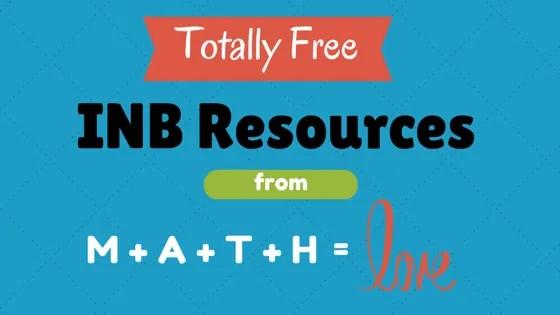 Free Math resources from Sarah Hagan