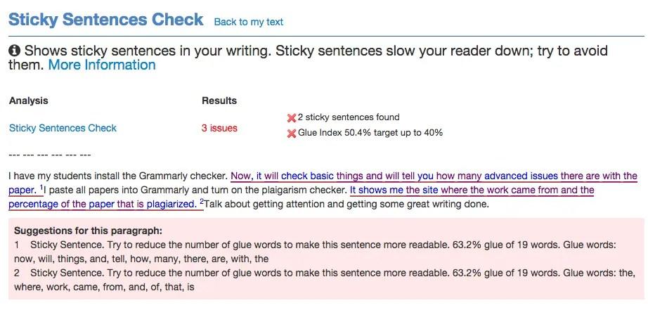 Writing Tip Remove Sticky Sentences