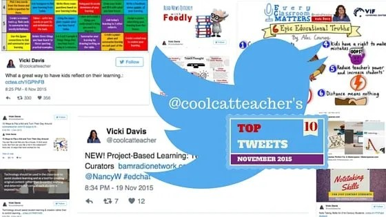 top 10 education tweets November 2015 Cool Cat Teacher