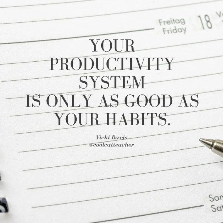 Your productivity system is only as good as your habits.
