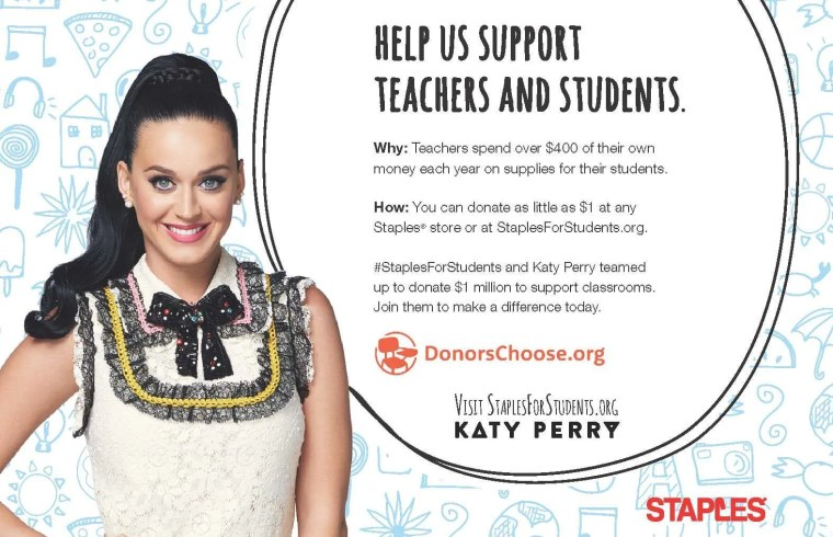 Staples Katy Perry Print PSA_2