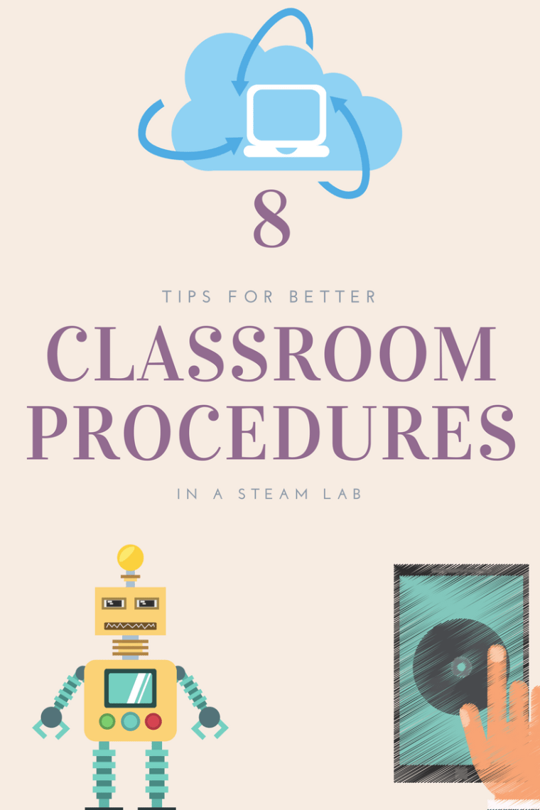 classroom procedures in a technology computer steam lab