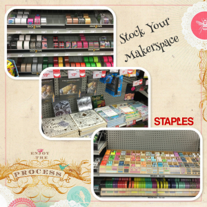 Stock your maker space with a variety of tapes, coloring books, and art supplies.