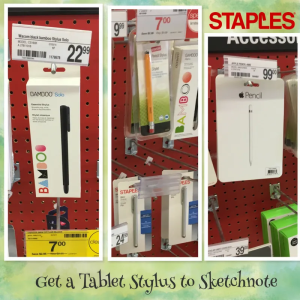 Sketchnoting and drawing on tablets are becoming very popular. Get a great stylus. (Staples has a Youth Stylus for students, available in-store only.)