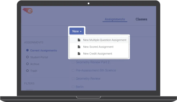 Setting assessments is fast and easy with GradeCam.